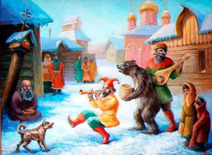 Медведей водили по дворам, также  они участвовали в праздновании Масленицы, Святок. /Фото: cont.ws