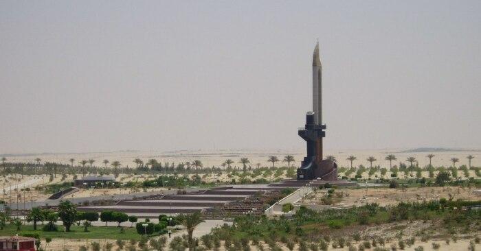 Памятник АК в Египте. /Фото: i.pinimg.com