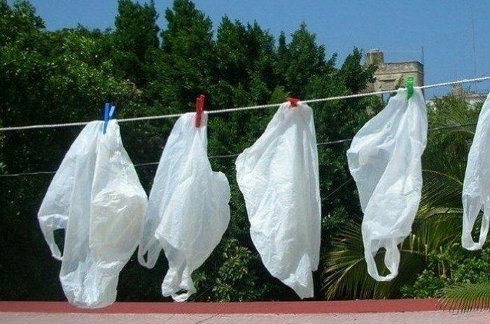 Пакеты стирали и сушили, как белье. /Фото: mtdata.ru