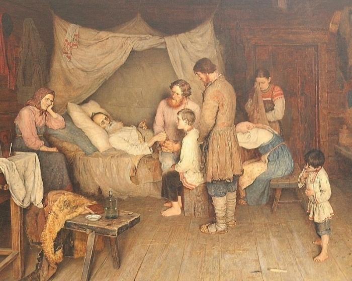 Жизнь у крестьян была тяжелая, люди часто болели. /Фото: logoslovo.ru