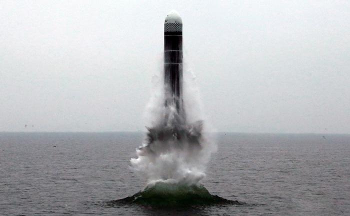 Запуск ракеты с подлодки. /Фото: mtdata.ru