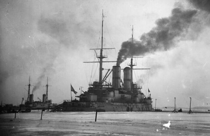 Броненосец «Слава» в 1917 году. /Фото: war-book.ru