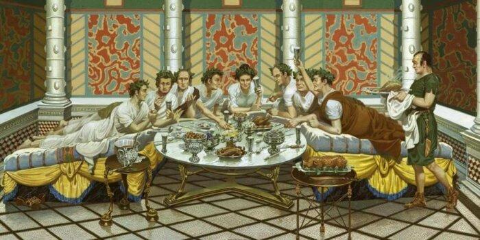 Меценаты организовывали открытые обеды по типу римских пиров. /Фото: pbs.twimg.com