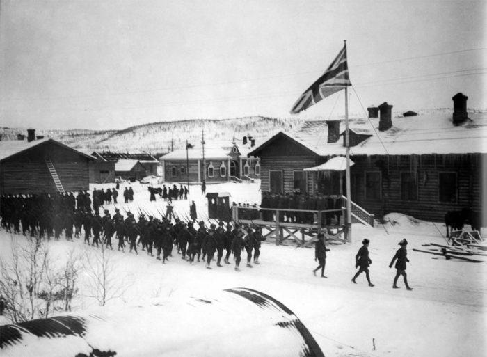 Британский десант в Мурманске. 1918 год./Фото: foma.ru