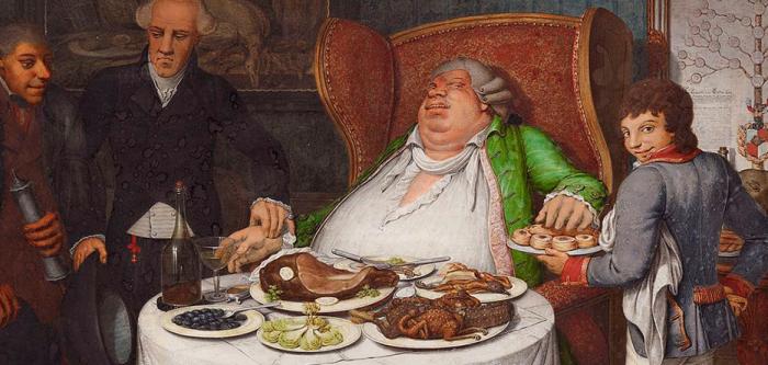 Обжорство, даже если оно всего лишь приснилось, считалось грехом. /Фото: crosspost.net