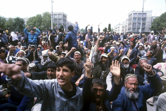 Беспорядки в Душанбе. /Фото: sputnik.tj