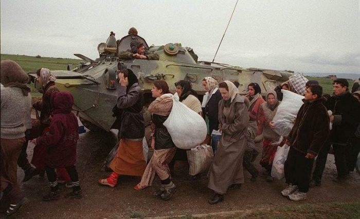 Русские беженцы из Чечни. /Фото: ya-russ.ru