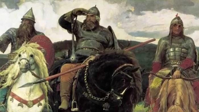 Некоторые современники художника утверждали, что В.М. Васнецов изобразил на своей знаменитой картине «Три богатыря» в виде Ильи Муромца Александра III (сам художник этого официально не подтверждал)./Фото: i.ytimg.com