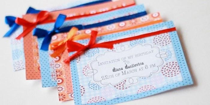 Приглашения на день рождения./Фото: mirnasos.ru