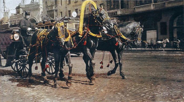 У «лихачей» были хорошие, резвые лошади и щегольской экипаж./Фото: moscowwalks.ru