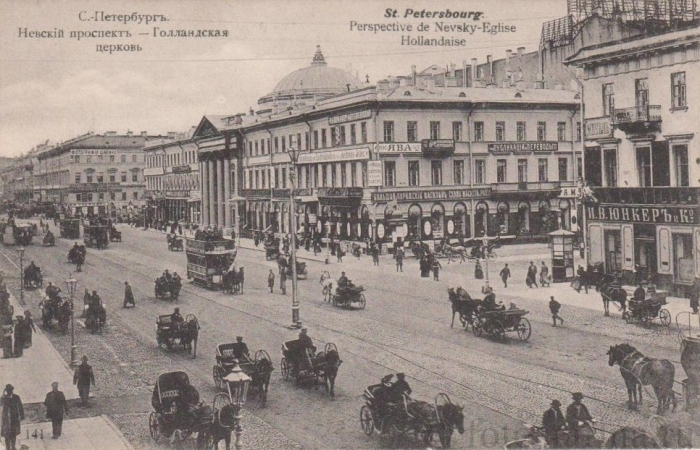 Интенсивное дорожное движение на Невском проспекте./Фото: cs8.pikabu.ru