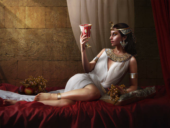 Клеопатра была хитра и в заключении споров./Фото: demiart.ru