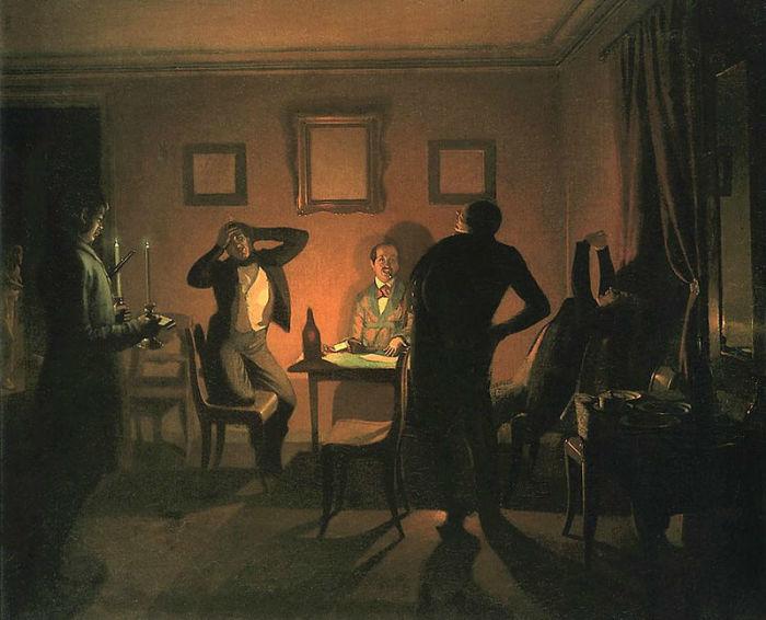 Картина Павла Федотова «Игроки».