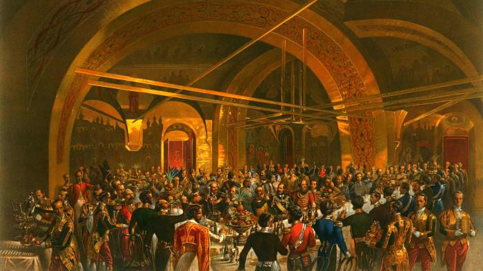 обед по случаю коронации Александра II./Фото: static.life.ru