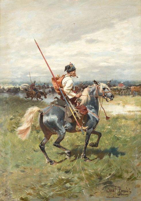 Художник Йозеф Брандт. «Запорожский рыцарь»./Фото: i.pinimg.com