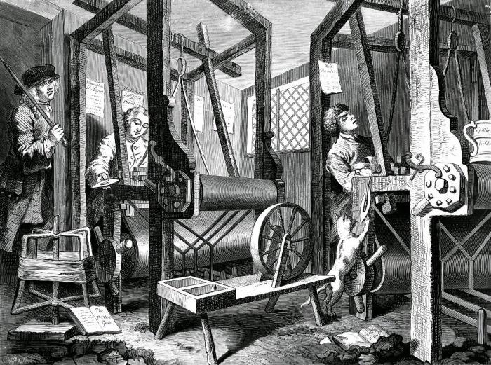 Работой на мануфактурах крестьяне занимались зимой./Фото: trojza.blogspot.com