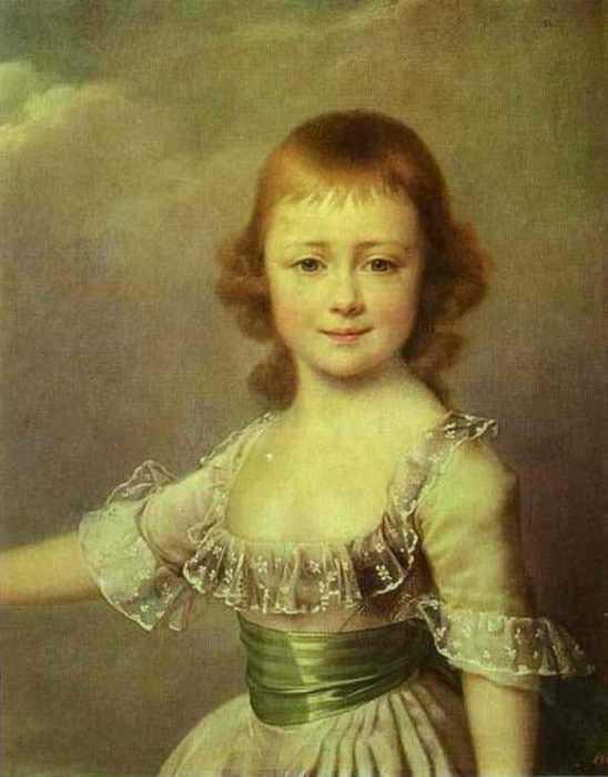 Д. Г. Левицкий. «Портрет великой княжны Екатерины Павловны». 1790-е.