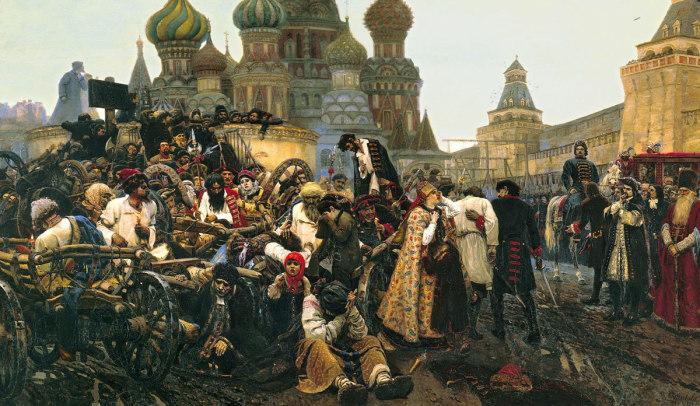 В. И. Суриков. «Утро стрелецкой казни». 1881 год.