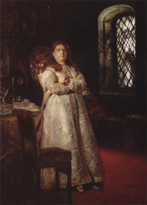 И. Е. Репин. «Царевна Софья в Новодевичьем монастыре». 1879 год.
