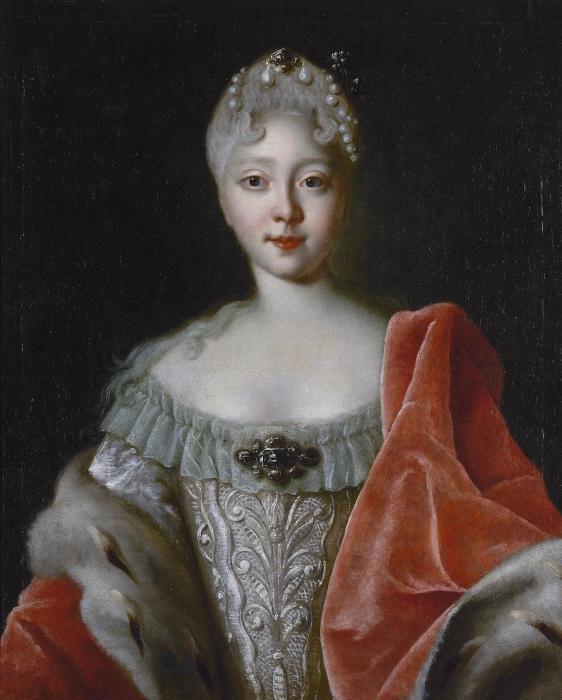 Л. Каравак. «Портрет Елизаветы Петровны». 1720-е годы.