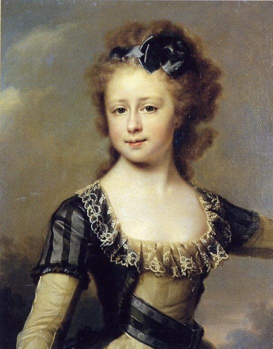 Д. Г. Левицкий. «Портрет великой княжны Марии Павловны», 1790-е.