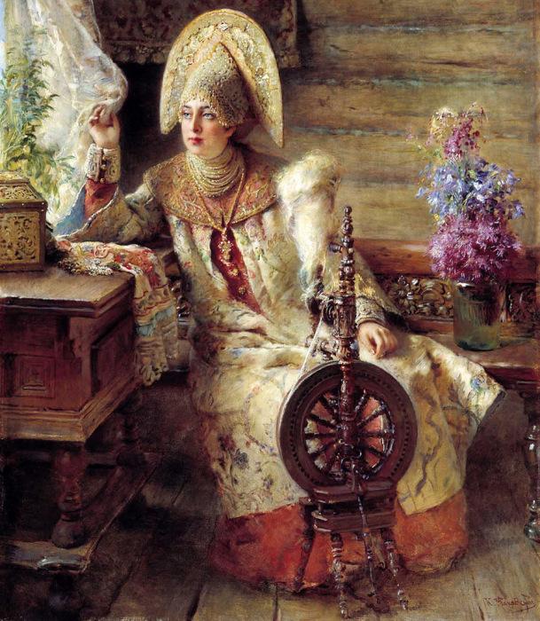 Русская женщина всегда в ÑлопоÑ'Ð°Ñ Ð´Ð° приготовленияÑ./Фото: mylitta.ru