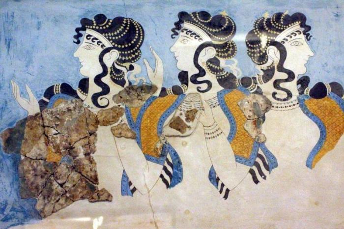 «Дамы в голубом». Кносский дворец на Крите / Фото: photoudom.ru