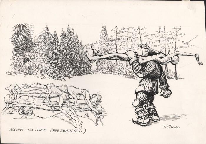 Рисунок Томаса Сговио из серии «Колымские лагеря»./Фото: moe-online.ru