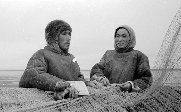 Эвенки-рыбаки, 1953 год./Фото: my.krskstate.ru