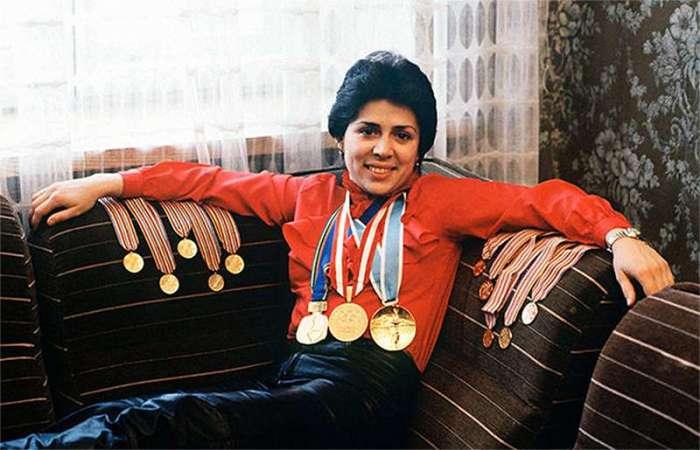 Ирина Роднина и ее медали./Фото: to-name.ru
