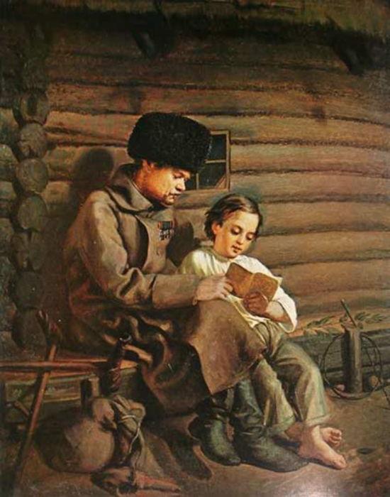 Н. Ю. Селиванович, «Солдат с мальчиком».