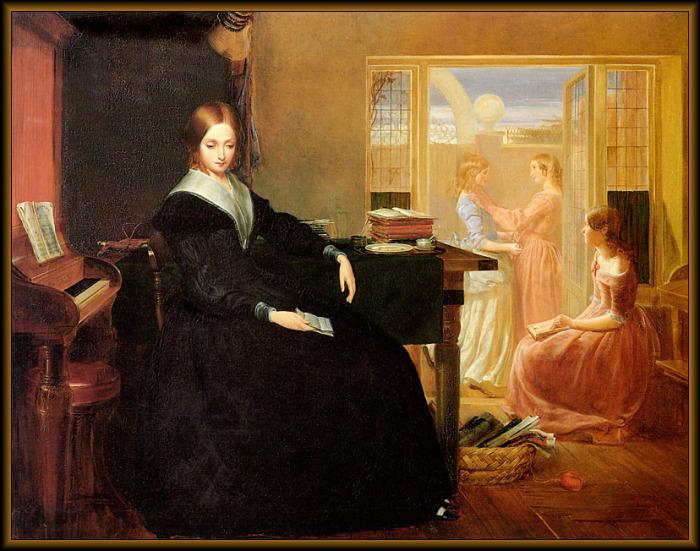 Гувернантка должна была учить своих подопечных манерам, игре на музыкальных инструментах, танцам. Кристофер Вуд, Гувернантка.