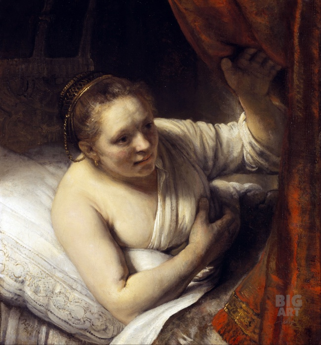 Рембрандт. «Девушка в постели». Портрет Гертье Диркс.