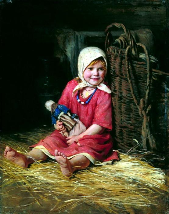 Художник Карл Лемох. «Варька». (1893).