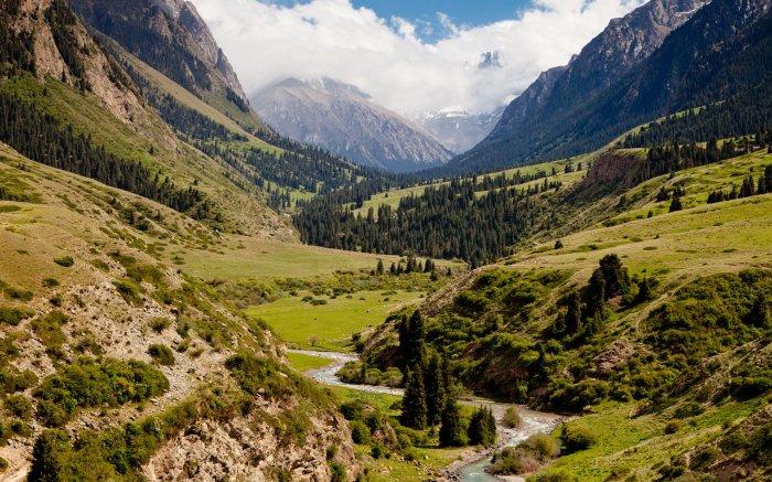 В Киргизских горах многих монахов ждало спасение./Фото: loveopium.ru