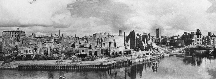 Город после советского штурма в 1945-м./Фото: img-fotki.yandex.ru