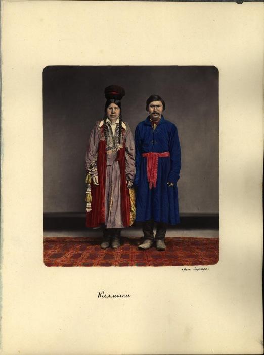 Калмыки в традиционной одежде. Фото 1872 года.