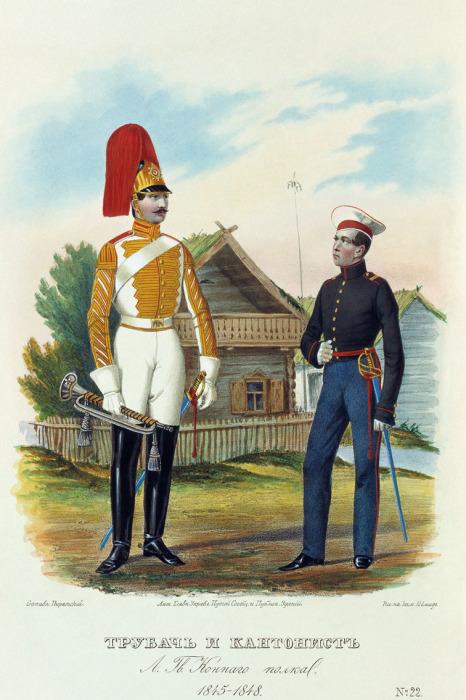 Трубач и кантонист лейб-гвардии Конного полка