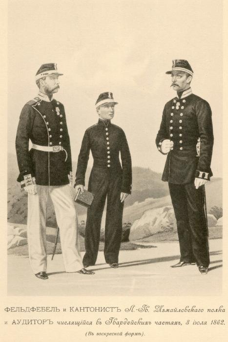 Примерно так выглядела военная форма, которую носили кантонисты