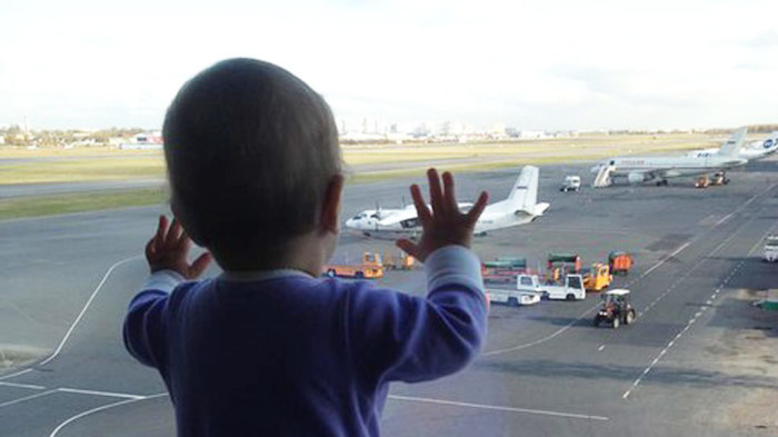 10-месячная Дарина Громова — самый маленький пассажир Airbus A320./Фото: img2.ntv.ru
