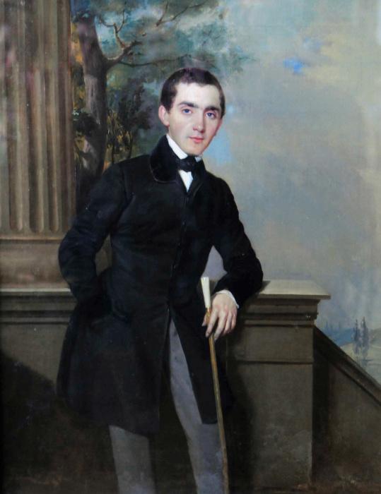 Пётр Захаров-чеченец, Автопортрет, 1833—1834 г. Многие исследователи считают, что на картине изображен Айбулат.