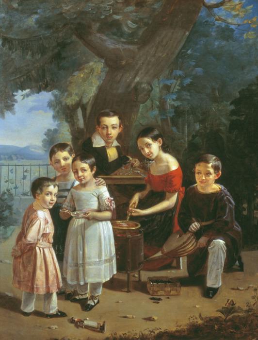 Пётр Захаров-чеченец, Портрет детей у Ермоловых, 1839 г.
