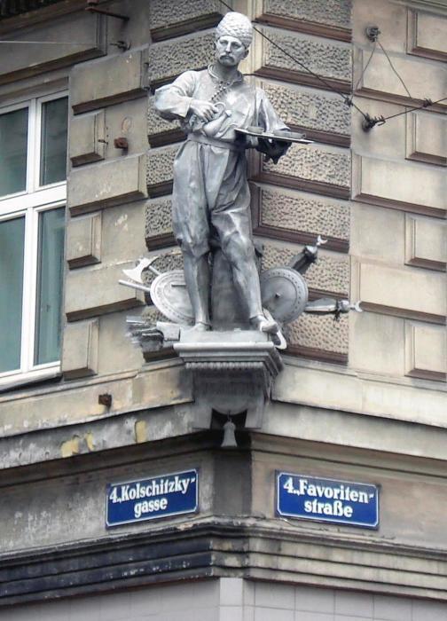 Памятник Юрию Францу Кульчицкому в Вене./Фото: alan.ucoz.lv