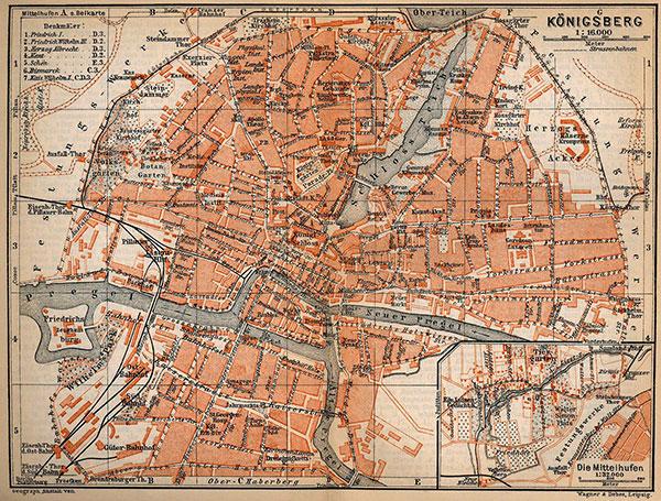 План Кёнигсберга 1910 года