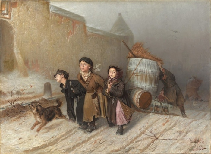 Известная картина Василия Перова застрахована на $700 000./Фото: svistanet.com