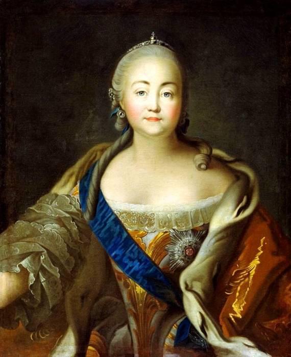 Портрет императрицы Елизаветы Петровны кисти Ивана Аргунова.