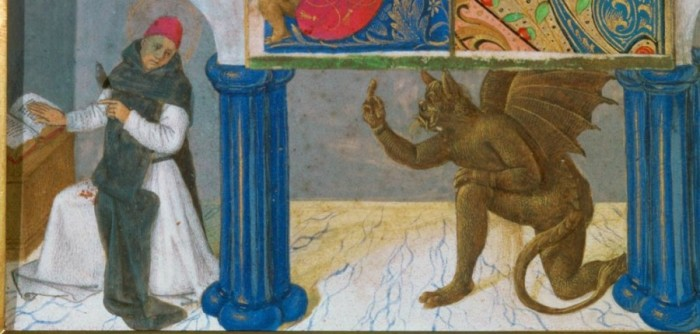 Святой Бернард, соблазняемый сатаной./Фото: ic.pics.livejournal.com