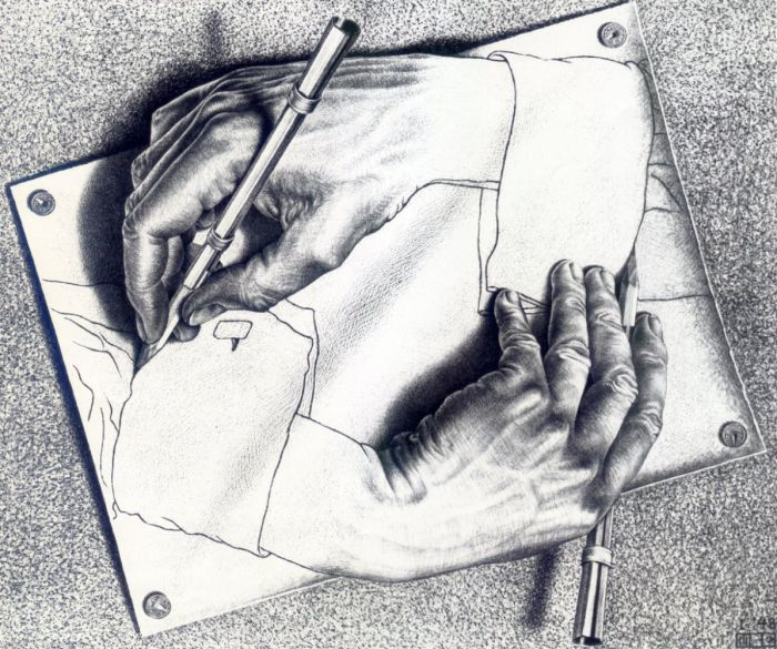 Морис Эшер. «Рисующие руки».