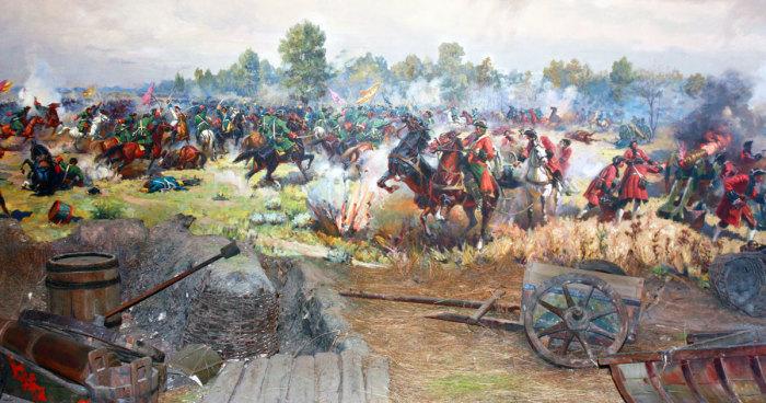 Полтавская битва: русское войско Петра I разбило шведскую армию под руководством Карла XII./Фото: poltavacity.top