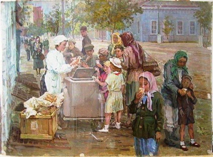 Н. Сверчков. Мороженое. После Октябрьской революции началась эпоха советского мороженого.